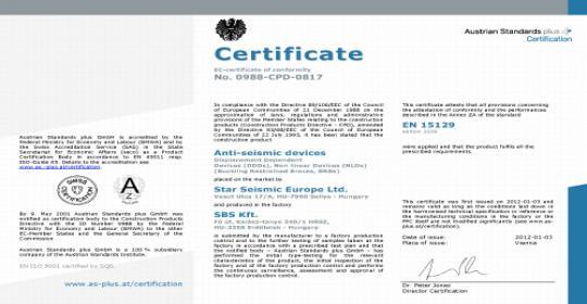 CE Сертификаты